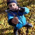 Profesionální fotografie dětí v parku