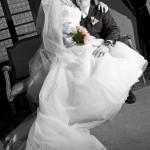černobílá svatební fotografie